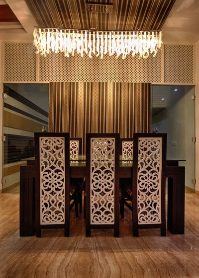 Contemporary Dining Room by Studio An-V-Thot Architects Pvt. Ltd.