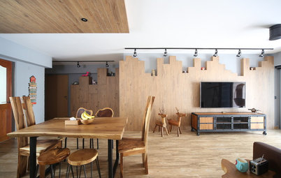 Houzz Tour: A 5-Room HDB Flat Becomes a Rustic Country Retreat