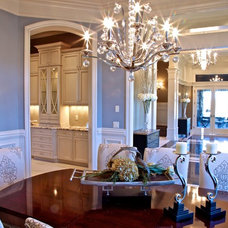 contemporary dining room by Browning Homes, Inc.