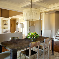 Transitional Dining Room by Northland Residential Corporation