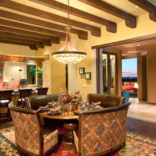 Traditional Dining Room by Dove Mountain Homes