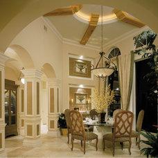 Mediterranean Dining Room by Wyman Stokes Builder LLC