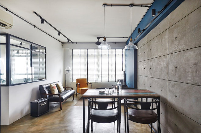 Industrial Dining Room by Fuse Concept Pte Ltd