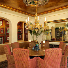 mediterranean dining room by Marcelino Custom Finishes