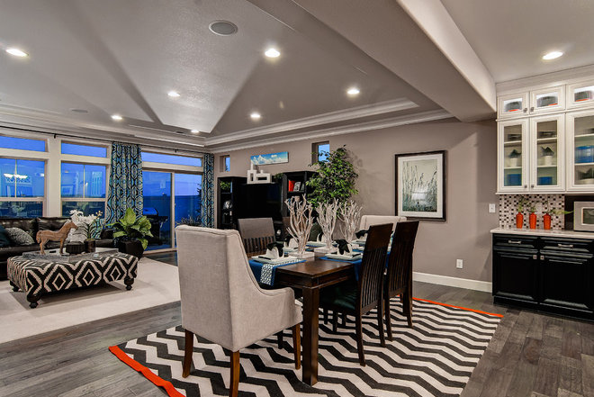 Contemporary Dining Room by Oakwood Homes