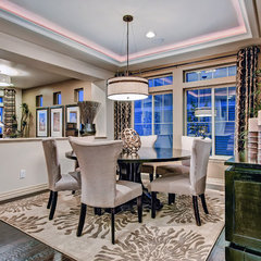 eclectic dining room by Oakwood Homes