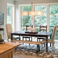 Transitional Dining Room by Vidabelo Interior Design
