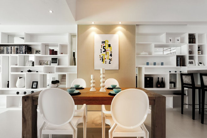 Contemporary Dining Room by S.I.D.Ltd.