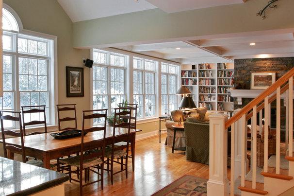 Traditional Dining Room by Teakwood Builders, Inc.