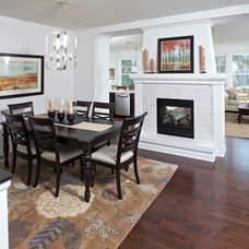 Transitional Dining Room by Homes by Tradition