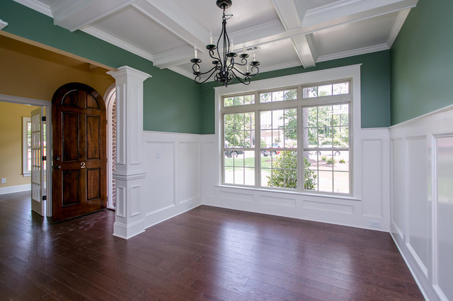 Craftsman Dining Room by Blue Ribbon Builders