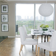 contemporary dining room by Laura S Mitchell Interior Design