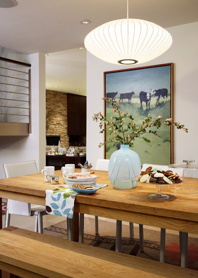 Midcentury dining room by alb designs