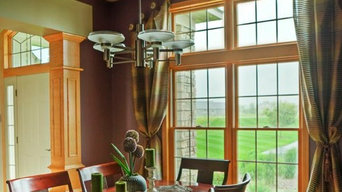 This couple wanted a dramatic look in their dining room.