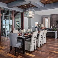 Transitional Dining Room by Wine Cellar Depot