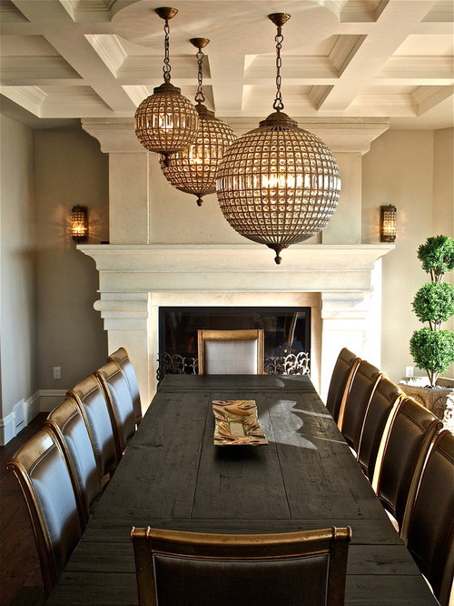 Multiple fireplaces dining room design ideas renovations for Traditional dining room fireplace