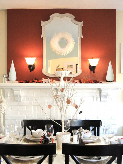 contemporary dining room Tips for Entertaining in a Small Space