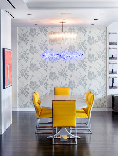 Houzz tour an artistic blend in a luxe manhattan loft for Dining room operations
