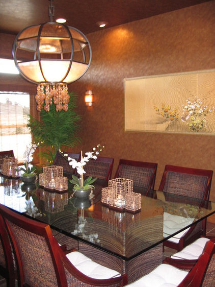 Asian Dining Room by Todd Peddicord Designs