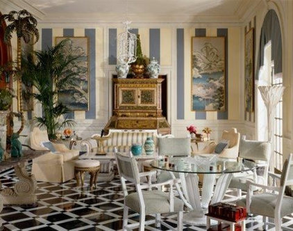 Eclectic Dining Room by Tomar Lampert Associates