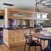 Kitchen Tour: Oak and Aubergine Create a Stylish Farmhouse Mood