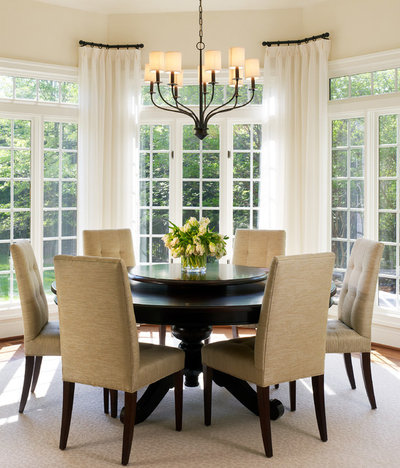 Transitional Dining Room by Barnes Vanze Architects, Inc.