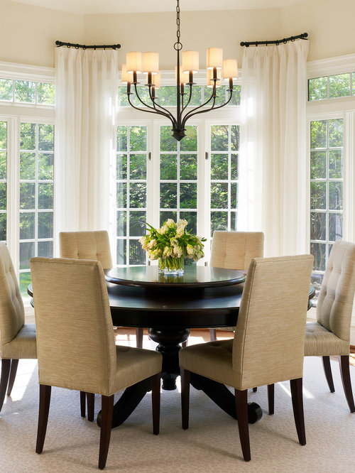 Transitional Dining Room Photo In DC Metro With Beige Walls And Floors