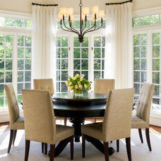 transitional dining room by Barnes Vanze Architects, Inc