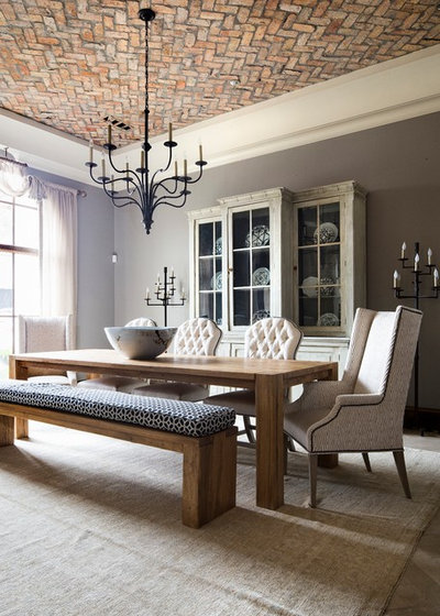 Perfect Mediterranean Dining Room by Wright Interiors Allied ASID