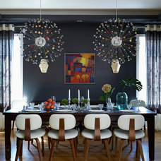 Contemporary Dining Room by Gregory Roth Design