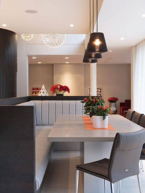 Booth Seating Inspiration For A Contemporary Dining Room Remodel In London