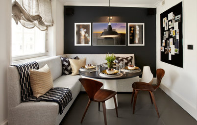 How to Sneak a Dining Table into a Tricky Space