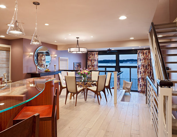 Contemporary Dining Room by Bruce Palmer Interior Design