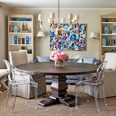 Transitional Dining Room by traci zeller designs