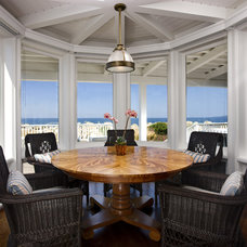 Beach Style Dining Room by DD Ford Construction