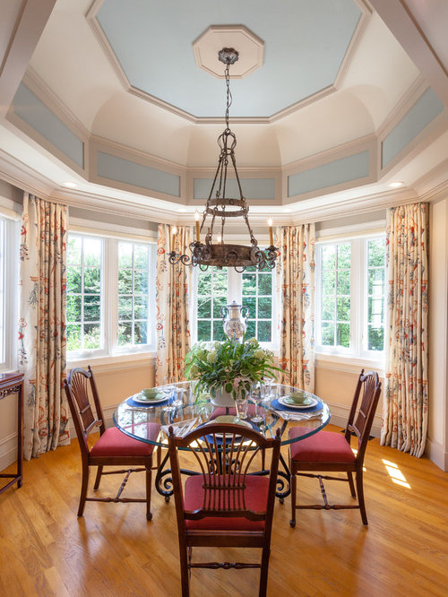 Inspiration For A Timeless Medium Tone Wood Floor And Brown Floor Dining  Room Remodel In Other