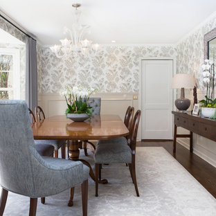 Inspiration For A Mid Sized Timeless Dark Wood Floor Enclosed Dining Room  Remodel In Los