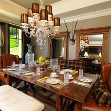 Traditional Dining Room by Alder and Tweed