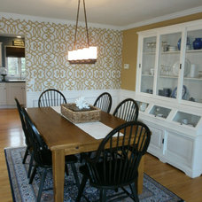 Traditional Dining Room by Amber B Design
