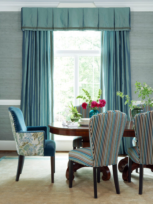 Inspiration For A Timeless Dining Room Remodel In Other With Blue Walls