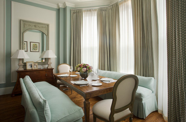 Traditional Dining Room by Catherine & McClure Interiors