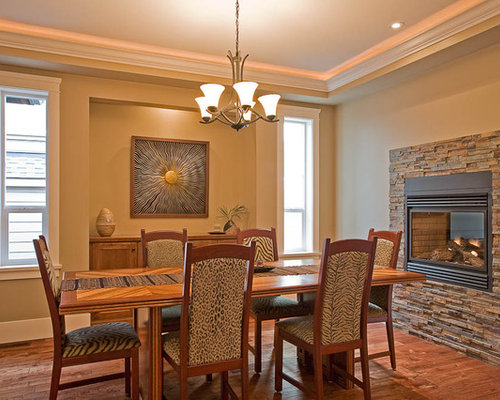 Electric Fireplace Dining Room Design Ideas Renovations Photos