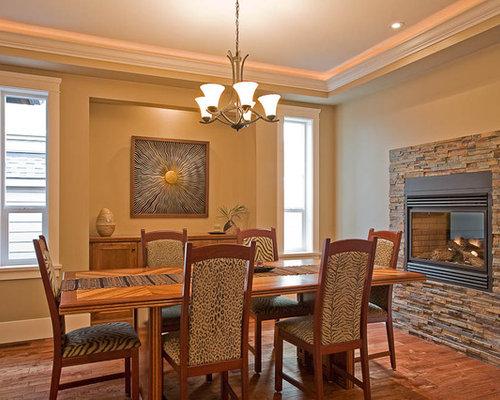 Gas fireplace dining room design ideas remodels photos for Dining room with fireplace designs