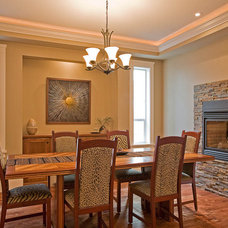 Traditional Dining Room by Clay Construction Inc.