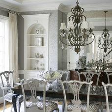 Traditional Dining Room by Heather Garrett Design