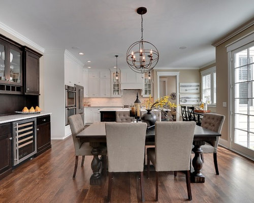 Example Of A Classic Kitchen Dining Room Combo Design In Minneapolis