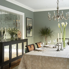 traditional dining room by CWB Architects
