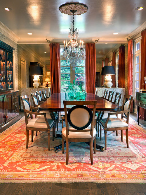 Example Of A Classic Dark Wood Floor Enclosed Dining Room Design In  Nashville