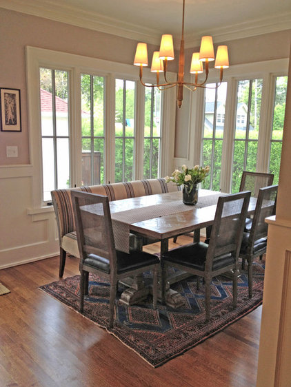 Traditional Dining Room by Rebekah Zaveloff | KitchenLab