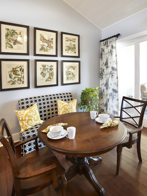 Pedestal Breakfast Nook Table Ideas Pictures Remodel and  : 6b21fe430d76fba26406 w500 h666 b0 p0 traditional dining room from www.houzz.com size 500 x 666 jpeg 64kB